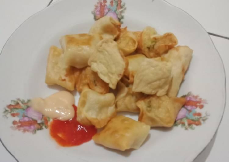 Resep: Pangsit goreng isi ayam yang menggugah selera