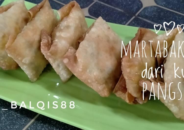 Cara memasak Martabak tahu dari kulit pangsit yang menggoyang lidah