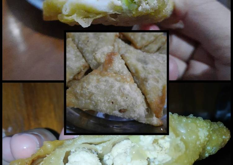 Cara Mudah mengolah Martabak ayam kulit pangsit ala resto