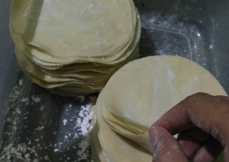 Resep: Kulit pangsit homemade ala resto