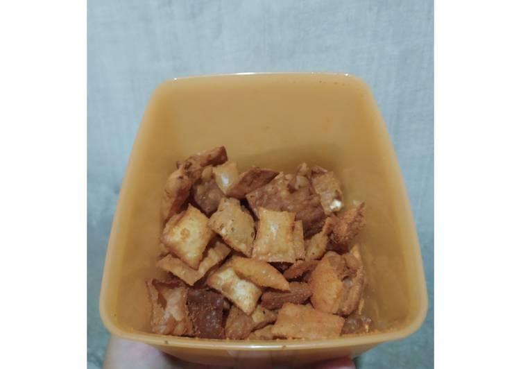 Resep: Pangsit goreng mudah untuk cemilan, 2 bahan yang menggoyang lidah