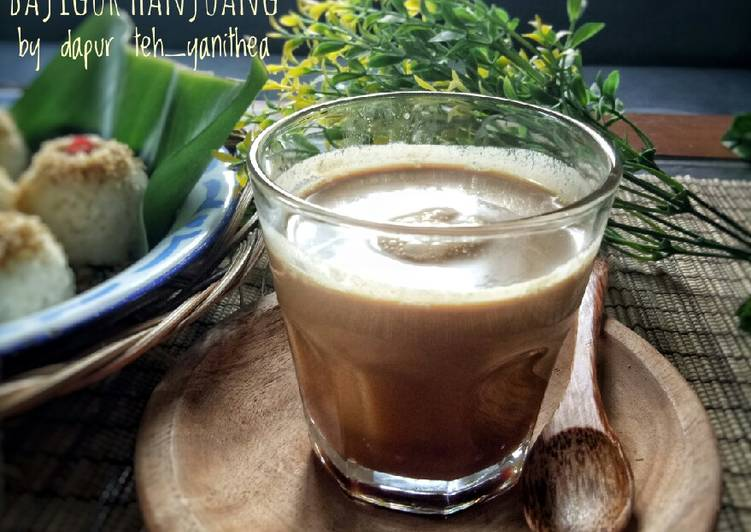 Cara Mudah memasak Bajigur Hanjuang (#pr_recookmintradisional) yang bikin ketagihan