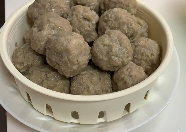 Resep: Cara membuat pentol bakso tanpa blender enak