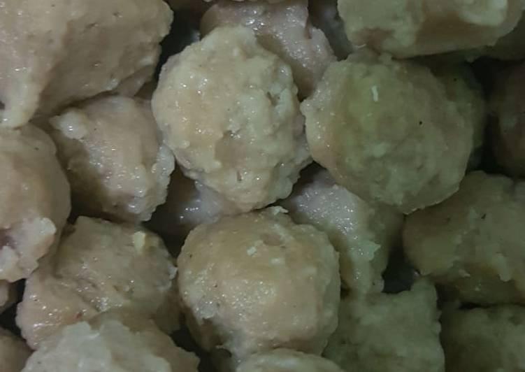 Resep: Bakso daging sapi dan ayam