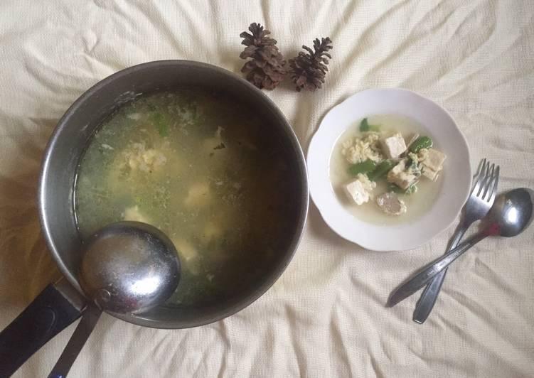 Sup Bakso Buncis Tahu Telur Wortel
