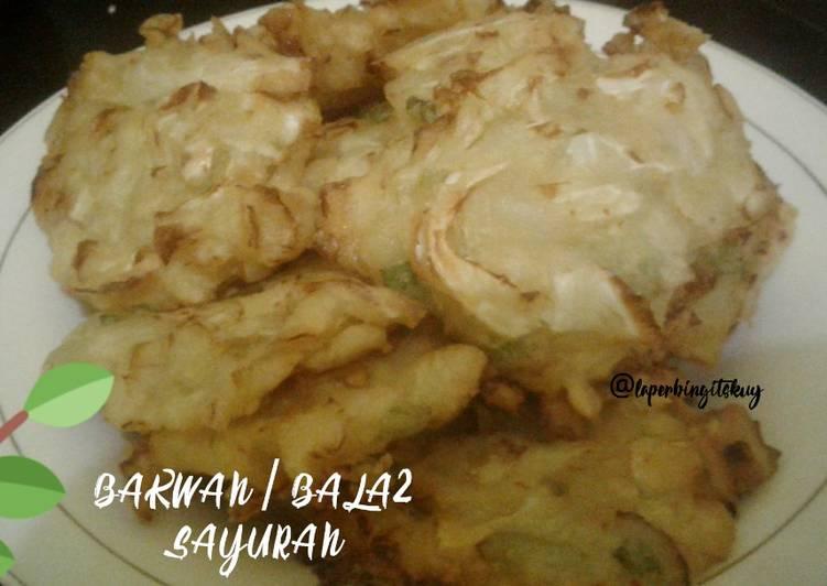 Bakwan / Bala bala Sayuran Simpel Tanpa Telur, Lembut dan Renyah