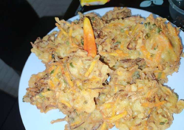 Cara membuat Bala-bala sayur kriuk lezat