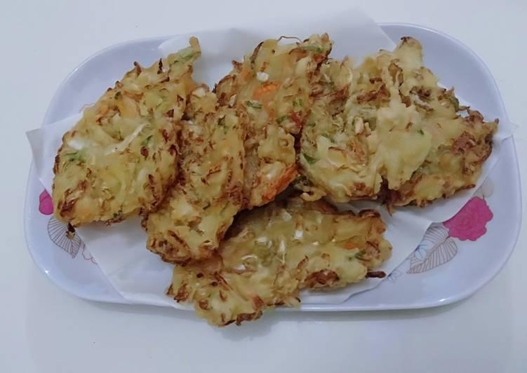 Resep: Bala bala (bakwan sayur) krispy tahan lama lezat