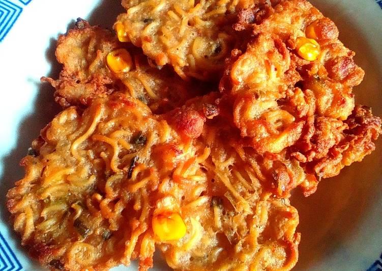 Cara Mudah memasak Bala-bala mie instan jagung. yang menggugah selera