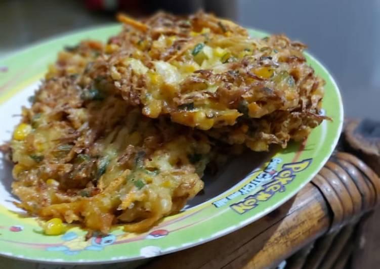 Cara Mudah memasak Bala-bala bakwan sayur crispy lezat
