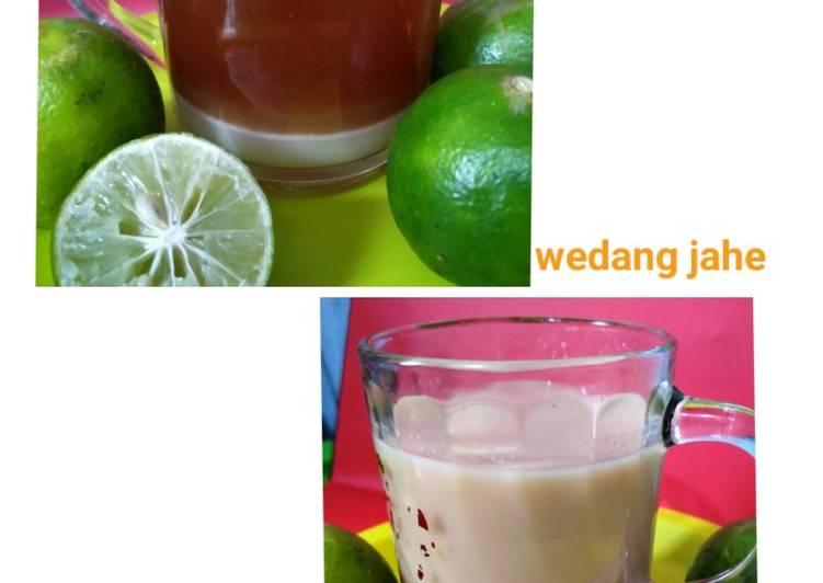 Resep: Wedang jahe (bandrek) istimewa