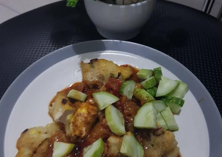 Resep: Batagor aci tahu simple saus kacang instant ala resto