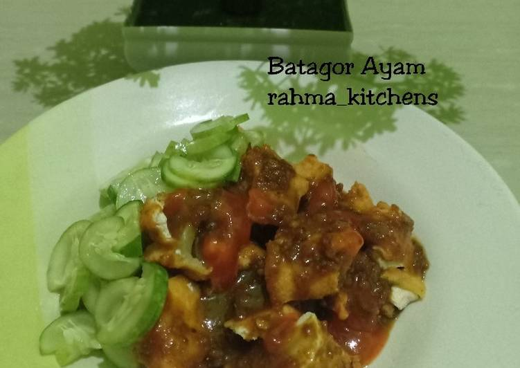Resep membuat Batagor Ayam simple ala resto