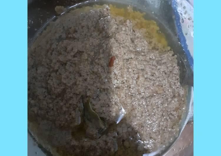 Cara memasak Bumbu kacang untuk siomay batagor dan cilok sedap
