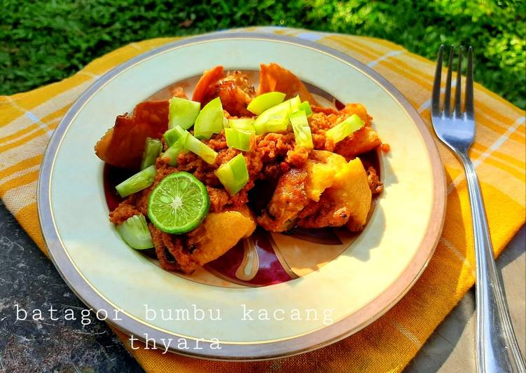 Resep memasak Batagor Bumbu Kacang ala Abang2 sedap