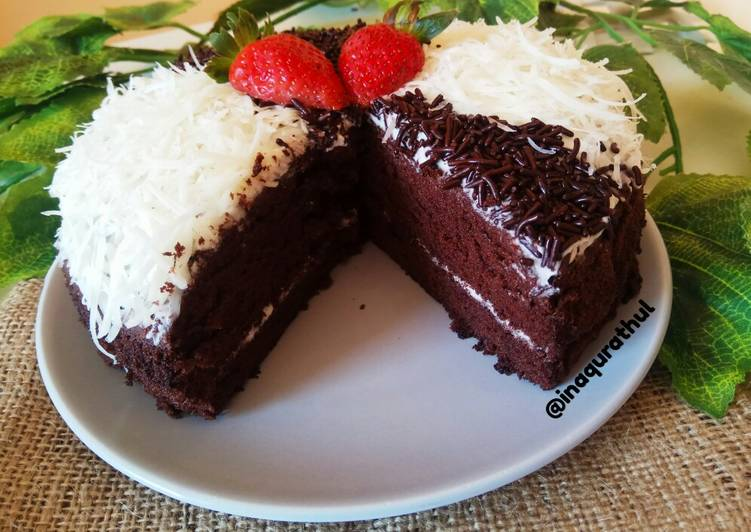 Resep: Simple Bday Cake (Bas cake brownies kukus) enak