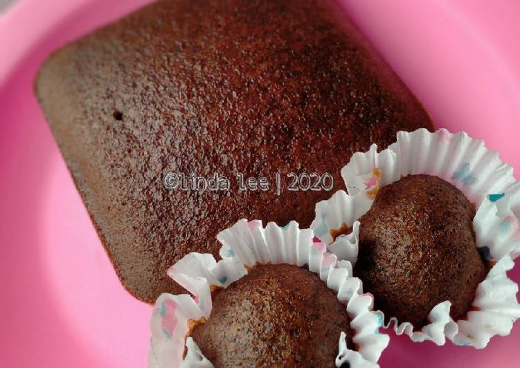 Resep: Brownies Kukus Rasa Panggang simple Serba 4 Bahan lezat