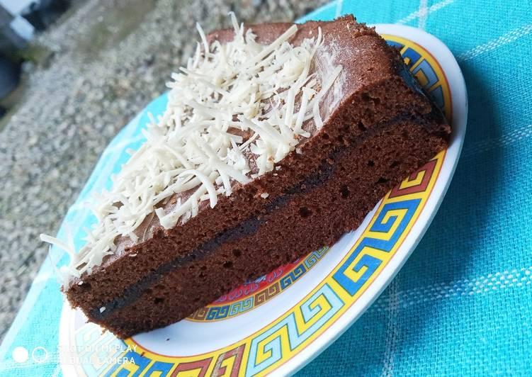 Cara Mudah membuat Brownies kukus ala amanda ala resto