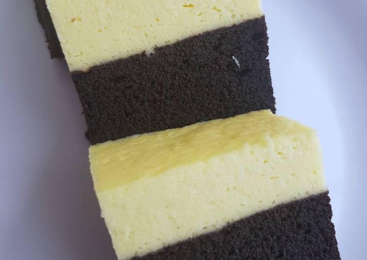 Resep: Brownies kukus coklat keju ala amanda sedap