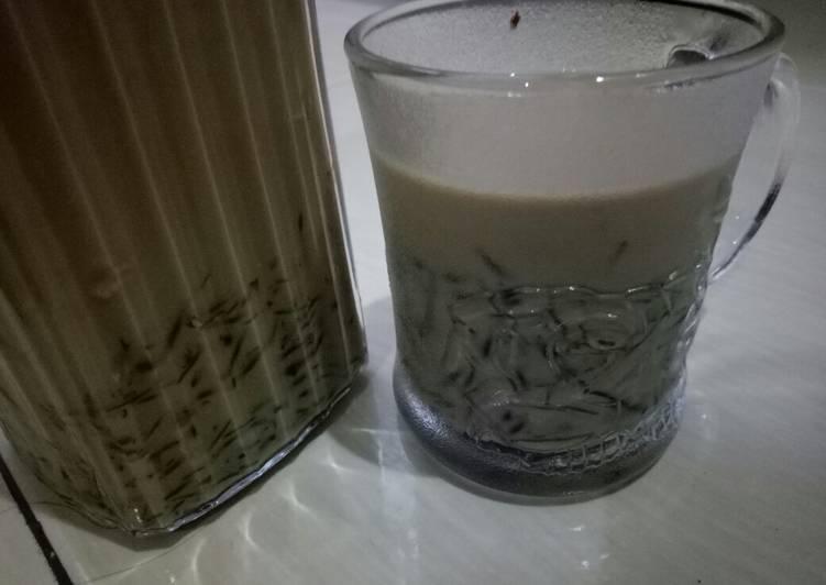 Cara Mudah membuat Es cendol susu sehat dan praktis lezat