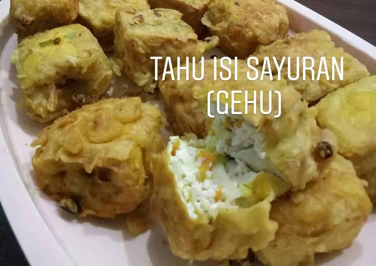 Resep memasak Tahu isi sayuran (gehu) ala resto