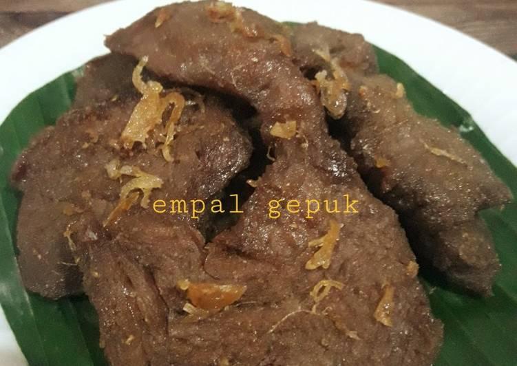 Resep mengolah Empal gepuk