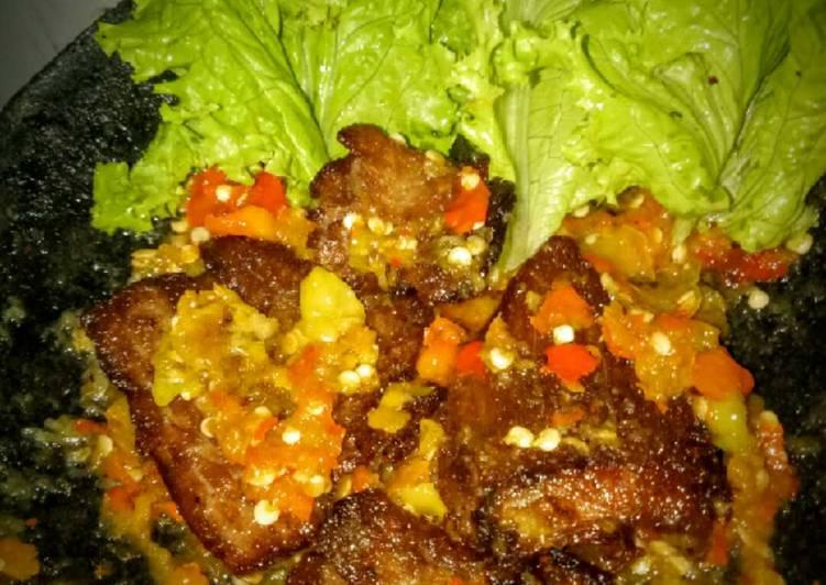 Resep: Empal Gepuk sambal korek enak