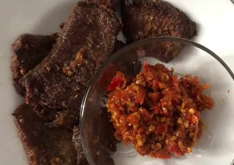 Gepuk Daging simple 👩🏻🍳