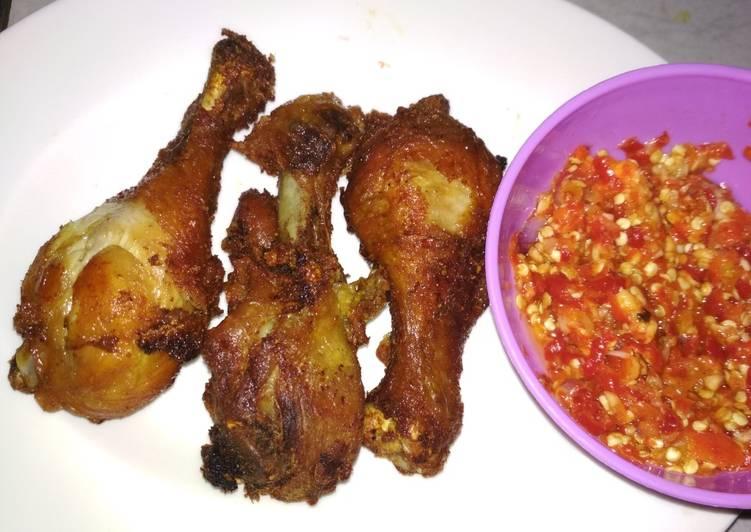 Resep: Ayam Gepuk sambal bawang endeuss Non msg enak