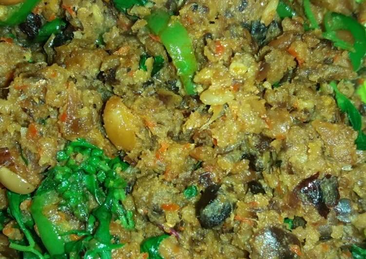 Cara Mudah memasak Sambel oncom kemangi