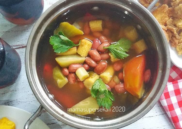 Resep: Kacang merah sayur asem bumbu cemplung yang bikin ketagihan