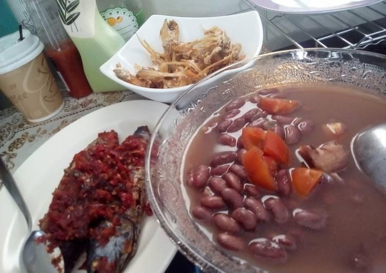 Angeun Kacang (sayur asem kacang merah) Praktis