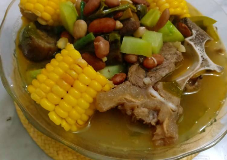 Cara Mudah mengolah Sayur asam buntut sapi mix sayuran komplit🐮🌽 lezat