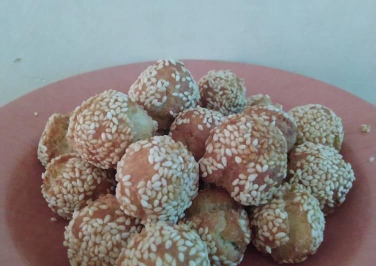Resep memasak Roti ketawa mini / mini onde-onde ketawa enak