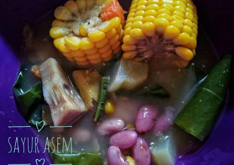 Cara Mudah memasak Sayur asem sederhana ala resto