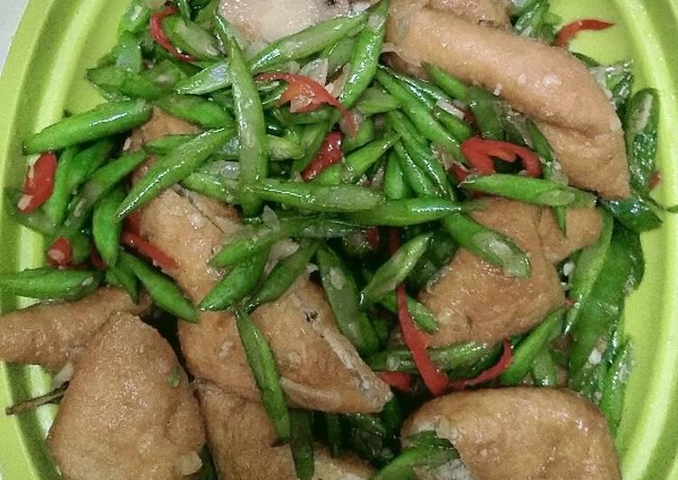 Cara Mudah mengolah Tumis buncis dan tahu Sumedang, ide masak sederhana tapi enak ala resto