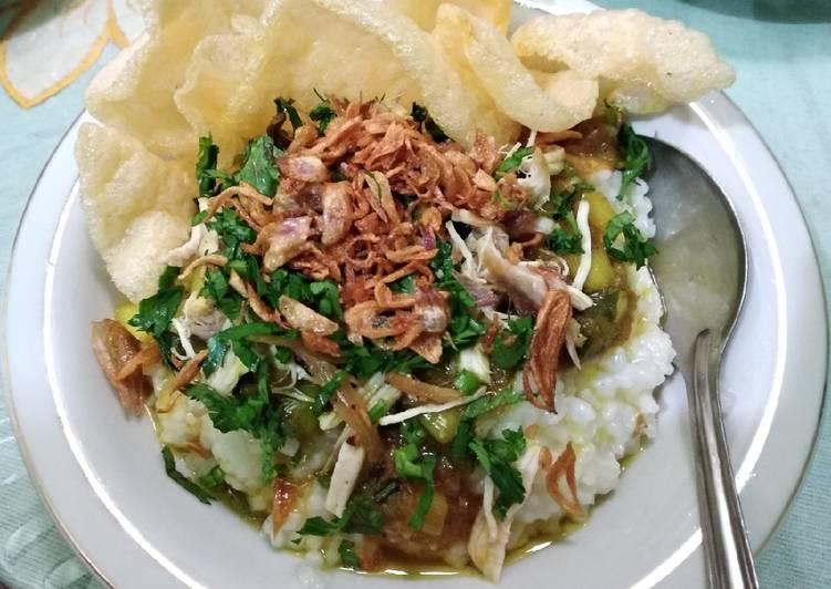 Cara Mudah memasak Bubur ayam khas cianjur istimewa