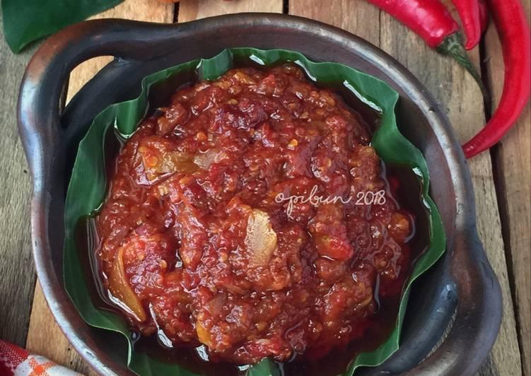 Resep mengolah Sambel Cianjur yang bikin ketagihan