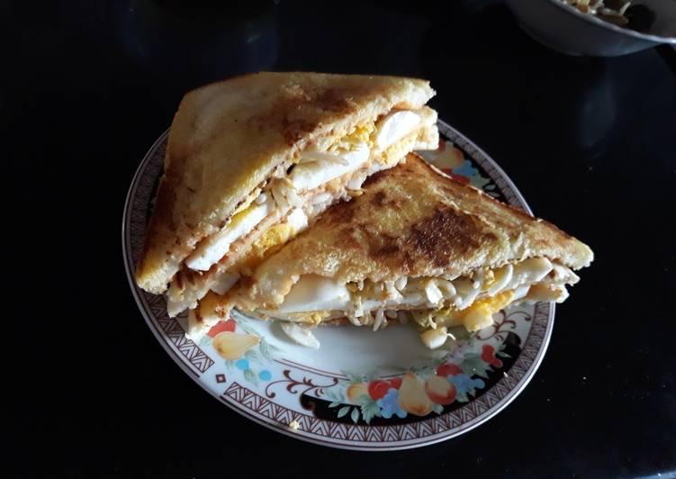Cara Mudah memasak Sandwich egg#sarapanku#cookpadcommunity-cianjur ala resto