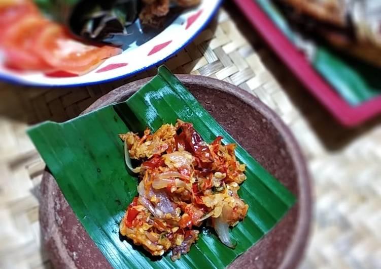 Cara membuat Sambal Goang khas Tasikmalaya yang bikin ketagihan