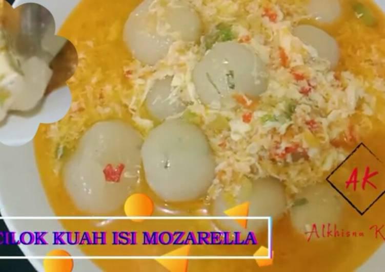 Cara Mudah memasak Cilok kuah (cilok goang) isi mozarella yang bikin ketagihan