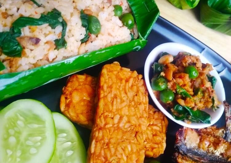 Cara Mudah membuat Nasi Tutug Oncom Bakar Teflon khas Bandung sedap