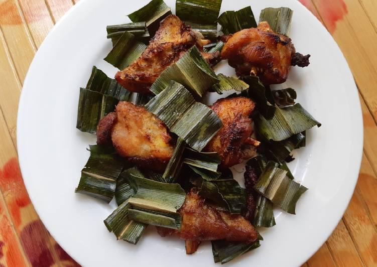 Cara Mudah memasak Ayam tangkap daun pandan istimewa