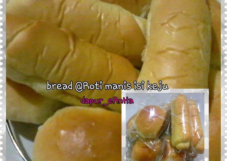Cara memasak Roti manis isi keju tanpa mixer tanpa ulen sedap