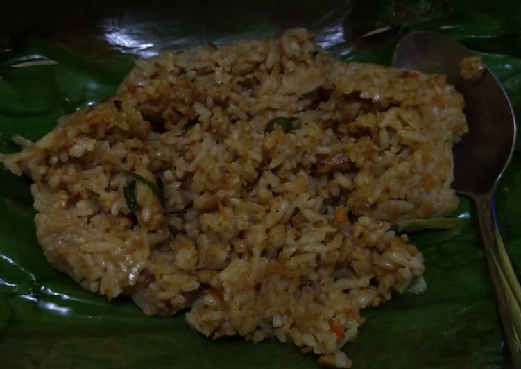 Cara Mudah memasak Nasi tutug oncom bakar enak