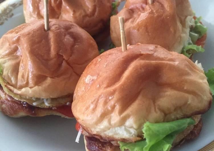 Cara Mudah memasak Burger Mini ala resto