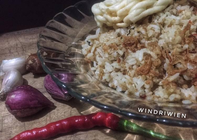 Nasi Tutug Oncom Masak Rice Cooker