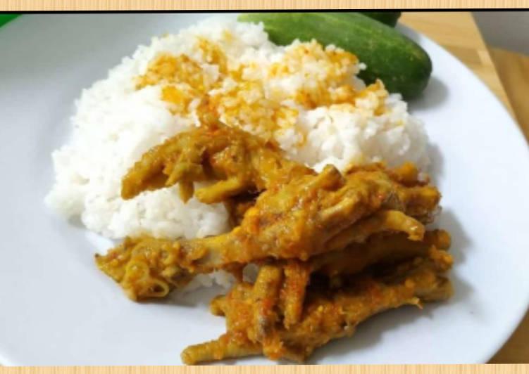 Resep memasak Ceker mercon bumbu kuning super empuk 🤤🤤🤤 enak