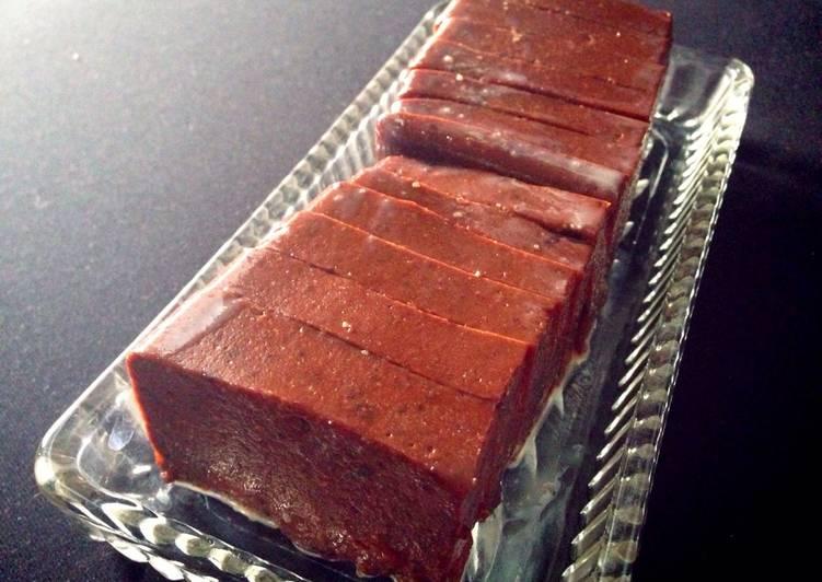 Resep: Puding brownies tanpa toping sedap