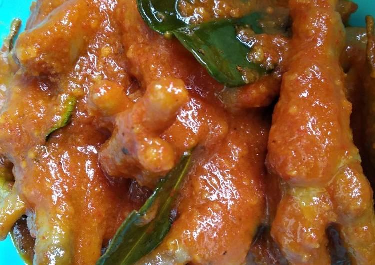 Resep: Ceker mercon / pedas lezat